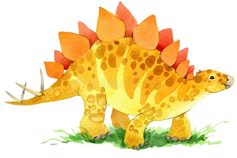 Dinosauriedjurillustration vektor illustrationer