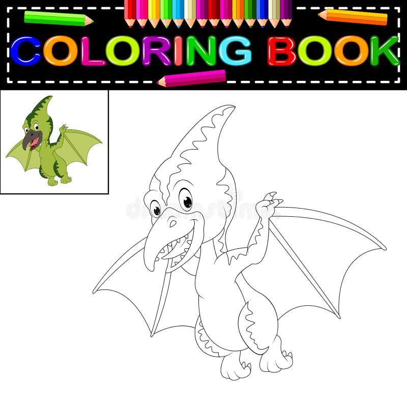 Dinosauriefärgläggningbok royaltyfri illustrationer