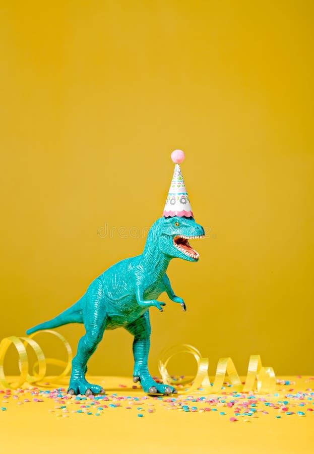 Dinosauriefödelsedagparti fotografering för bildbyråer