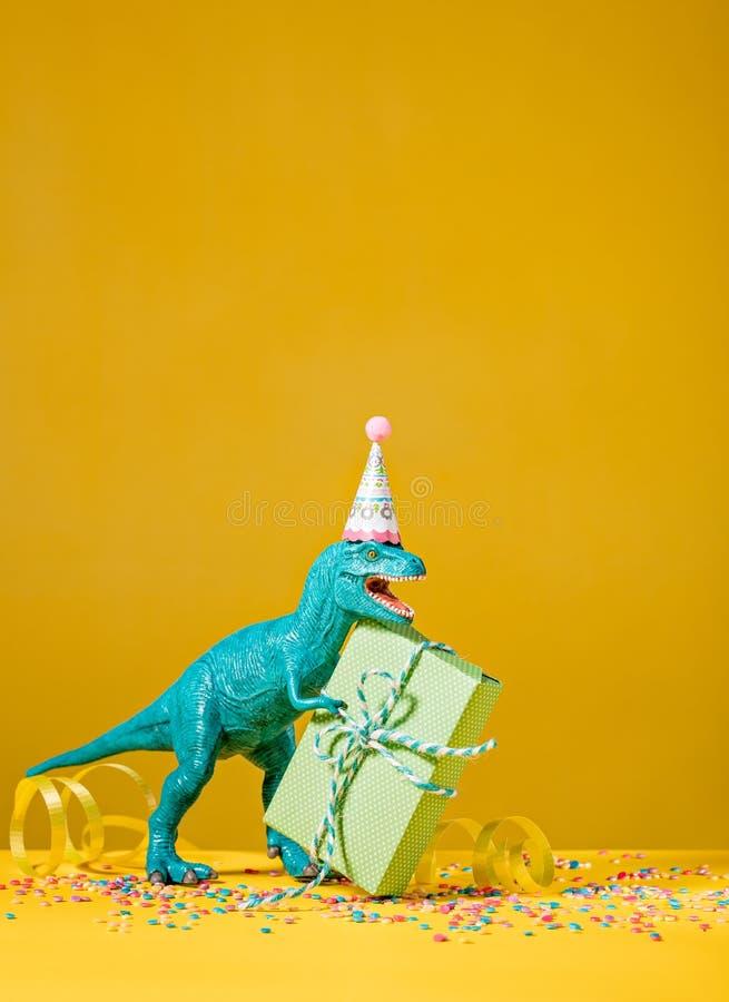 Dinosauriefödelsedagparti royaltyfri fotografi