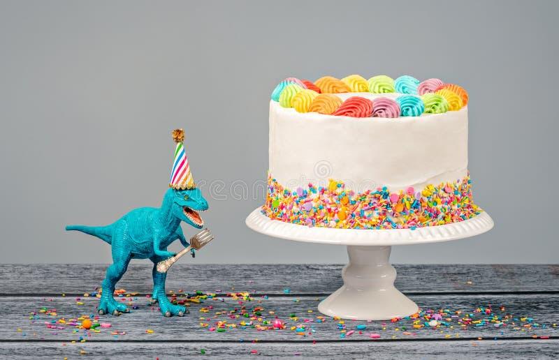 Dinosaurief?delsedagparti royaltyfria bilder