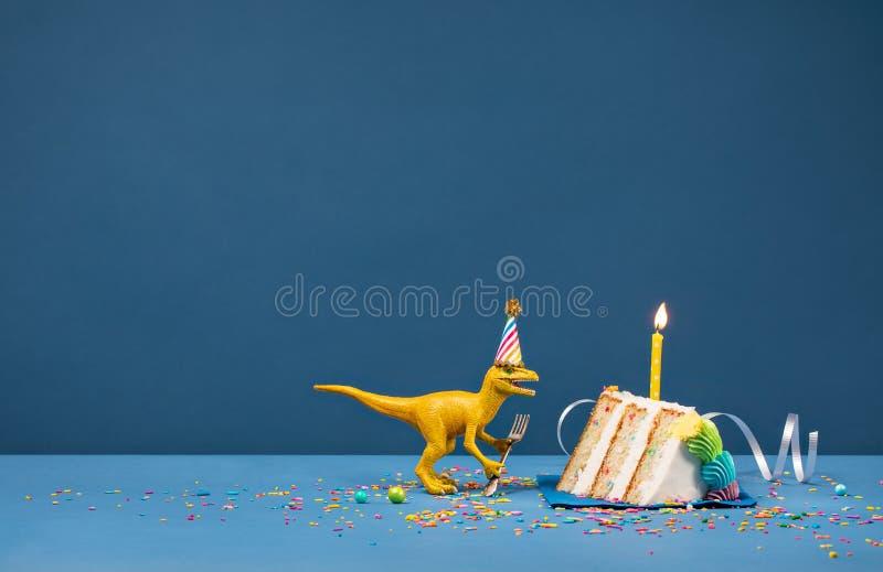 Dinosaurief?delsedagparti royaltyfria foton