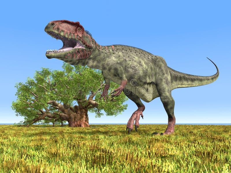 DinosaurieGiganotosaurus royaltyfri illustrationer
