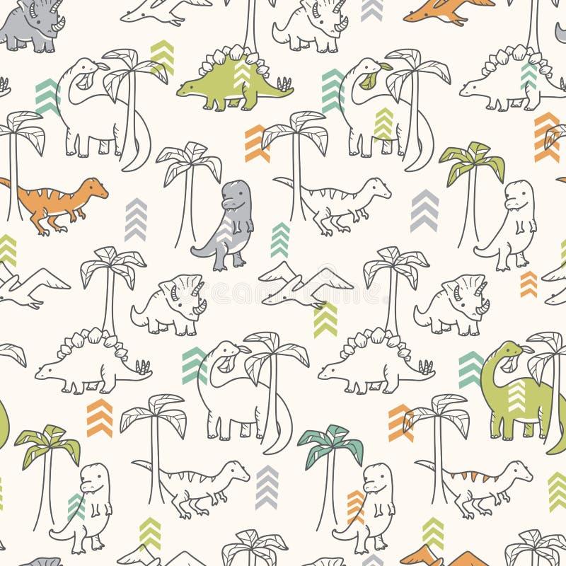 Dinosauriemodell stock illustrationer