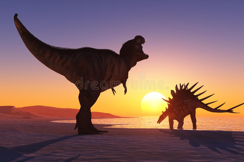 Dinosaurien stock illustrationer