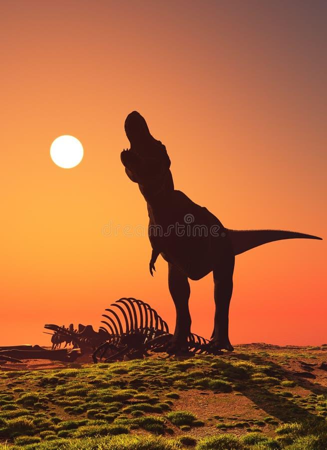 Dinosaurien stock illustrationer