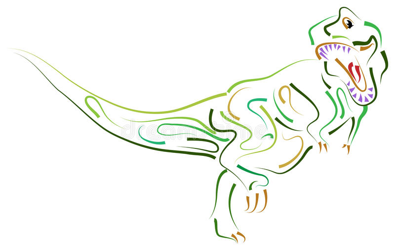 Dinosaurien royaltyfri illustrationer