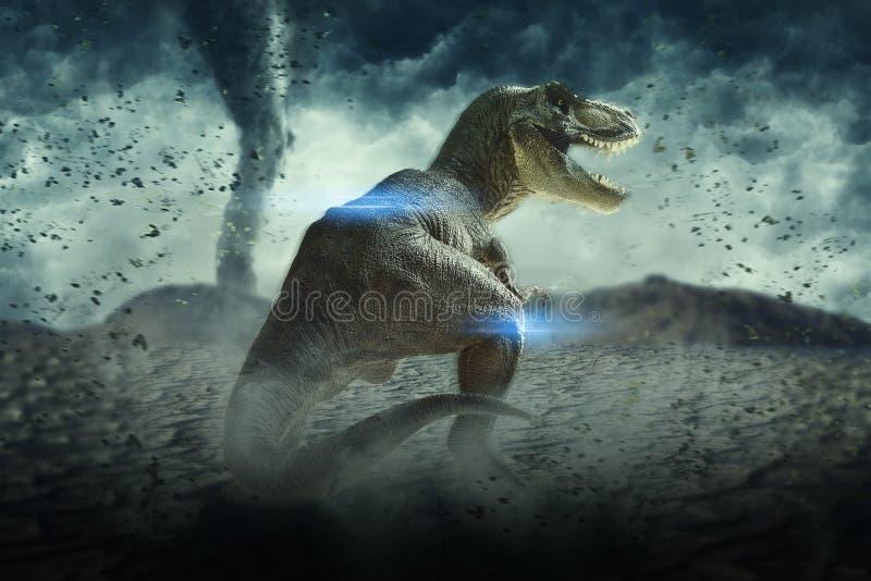 Dinosaurien 3D framför vektor illustrationer