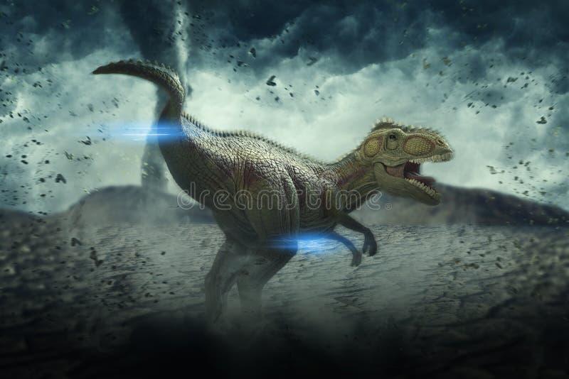 Dinosaurien 3D framför royaltyfri illustrationer