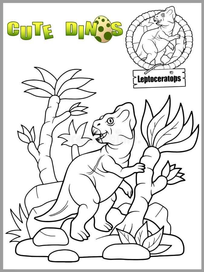 Dinosaurien gick för en gå vektor illustrationer