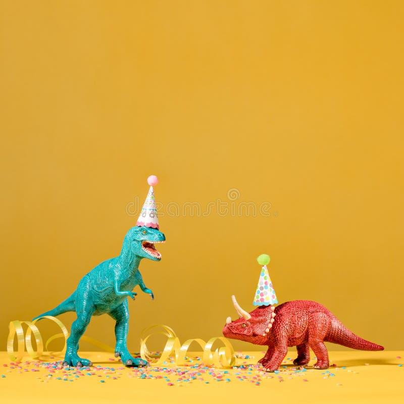 Dinosaurieparti royaltyfri bild