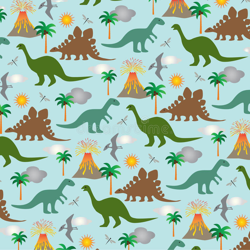Dinosaurieplats stock illustrationer