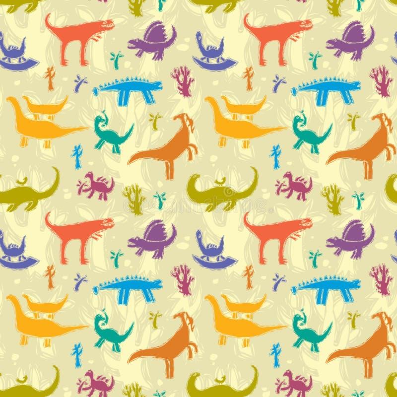 Dinosaurier stock illustrationer