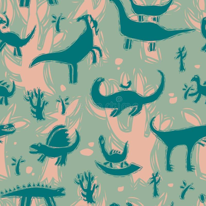 Dinosaurier vektor illustrationer