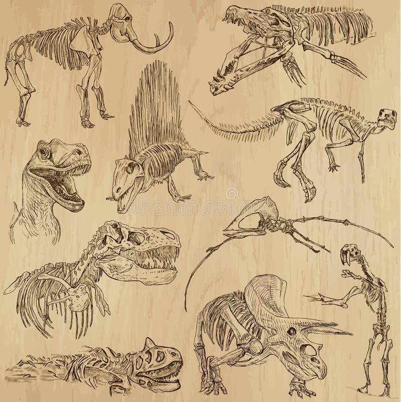 Dinosaurier 5 stock illustrationer