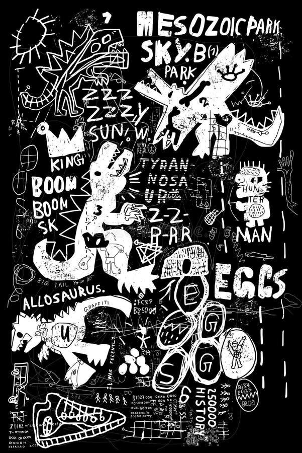 Dinosaurier royaltyfri illustrationer