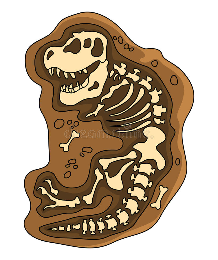 Dinosaurier-Fossil stock abbildung