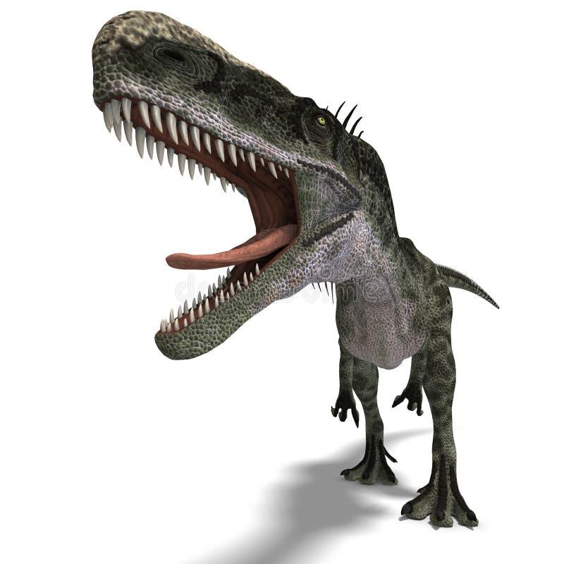 Dinosaurier Monolophosaurus vektor abbildung