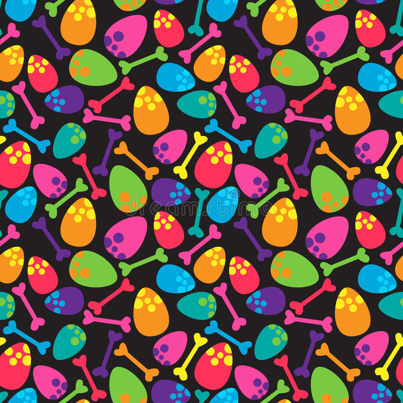 Dinosaurier nahtloses Tileable-Vektor-Hintergrund-Muster stock abbildung