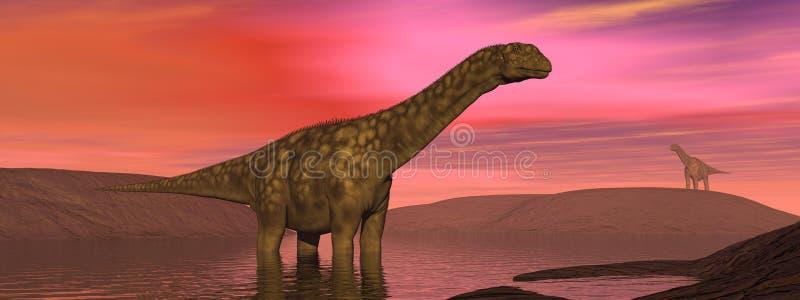 Dinosaurier rgentinosaurus lizenzfreie abbildung