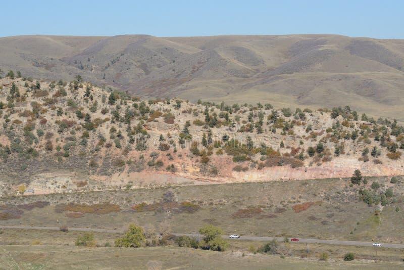 Dinosaurier Ridge Kolorado lizenzfreie stockfotografie