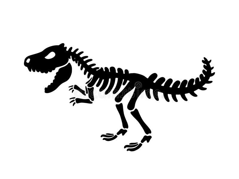 Dinosaurier-Tyrannosaurusskelett Abbildung lizenzfreie abbildung