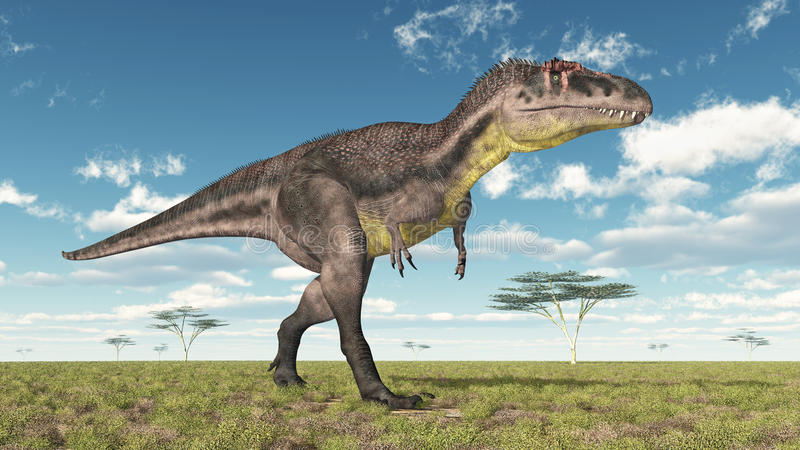 Dinosaurier Tyrannotitan lizenzfreie abbildung