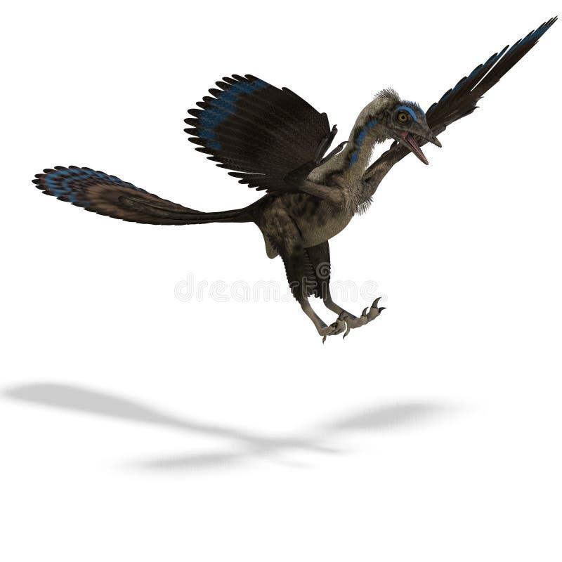 DinosaurierArchaeopteryx stock abbildung