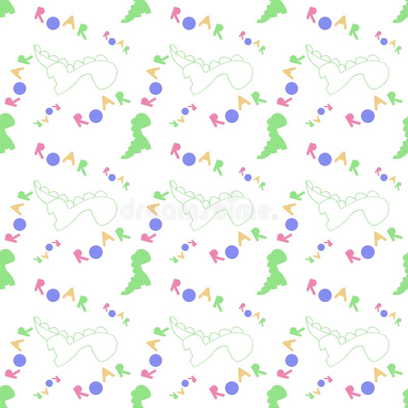Dinosaurierbr?llen Dino-Muster E Vektor vektor abbildung