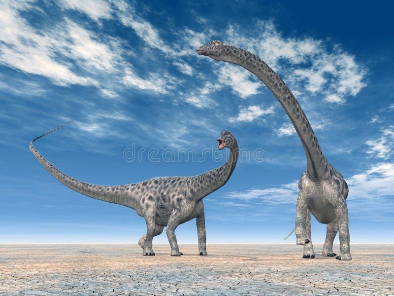DinosaurierDiplodocus lizenzfreie abbildung