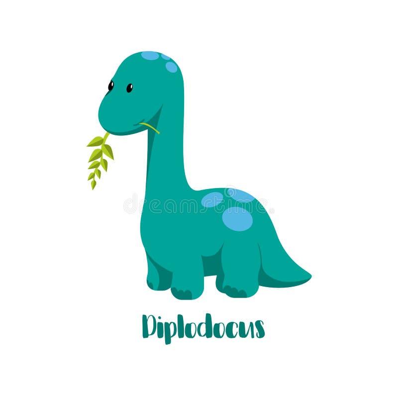 Dinosaurierikonen in der flachen Art für das Entwerfen von Dino-Partei, Kinderfeiertag, dinosaurus bezogen sich Materialien stock abbildung