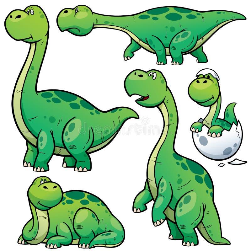 Dinosaurierkarikatur stock abbildung