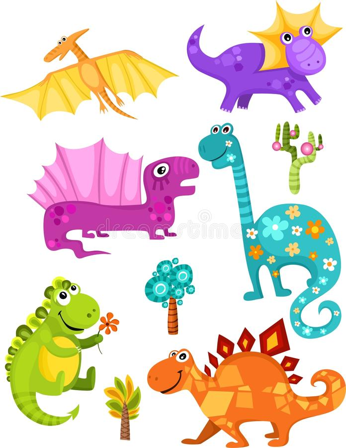 Dinosaurierset lizenzfreie abbildung