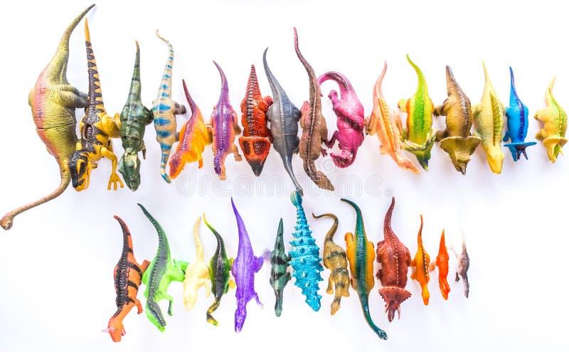 Dinosaurierspielwaren lizenzfreie stockbilder
