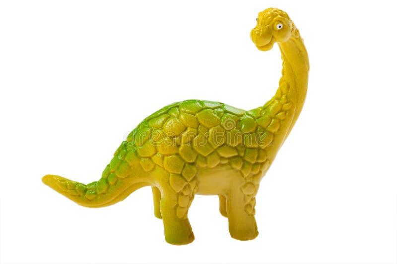 Dinosaurierspielzeug getrennt auf weißem Hintergrund stockbild