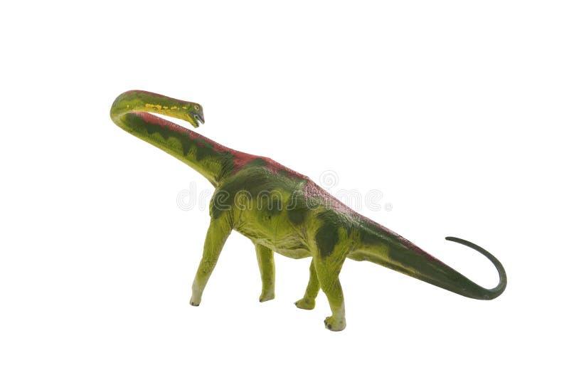 Dinosaurierspielzeug an lokalisiert auf Weiß lizenzfreie stockfotos