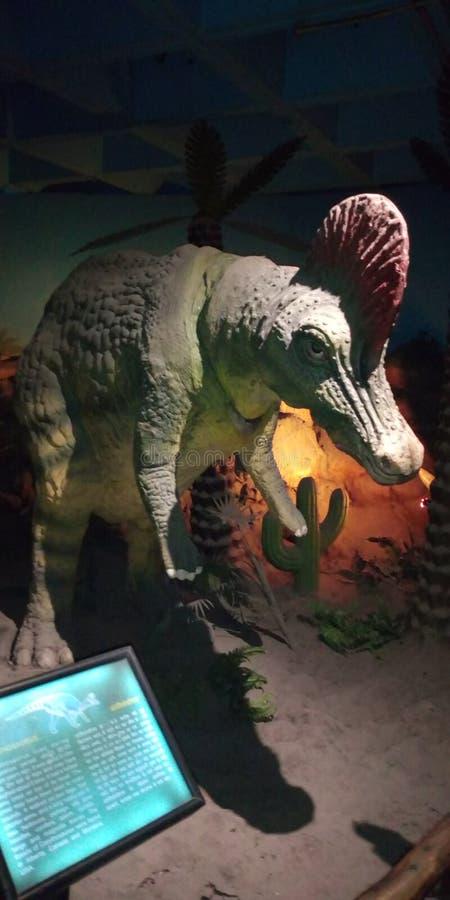 Dinosauriestaty royaltyfria bilder