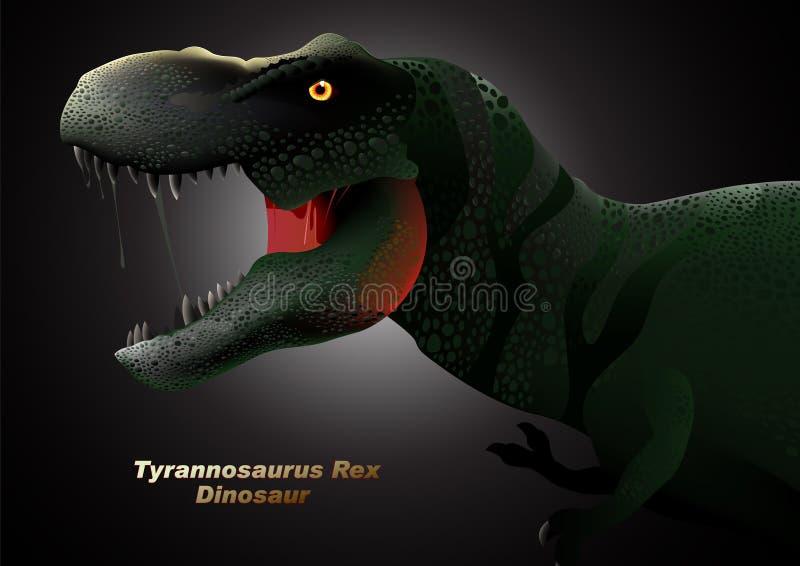 Dinosaurietyrannosariehuvud royaltyfri illustrationer