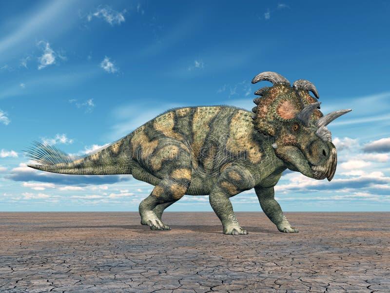 Dinosaurio Albertaceratops stock de ilustración