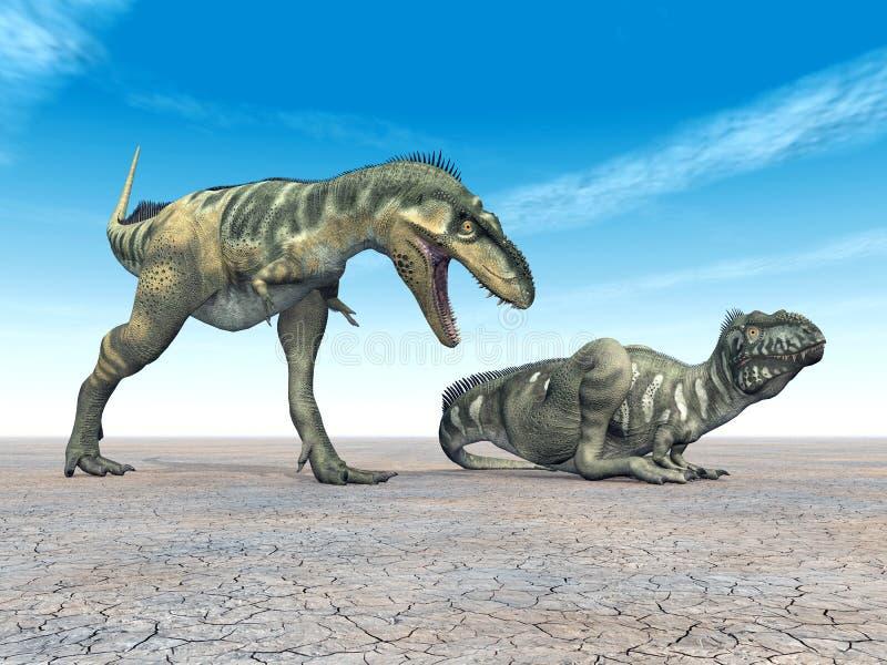 Dinosaurio Bistahieversor stock de ilustración