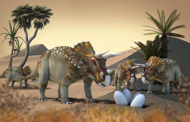 dinosaurio 3D ilustración del vector