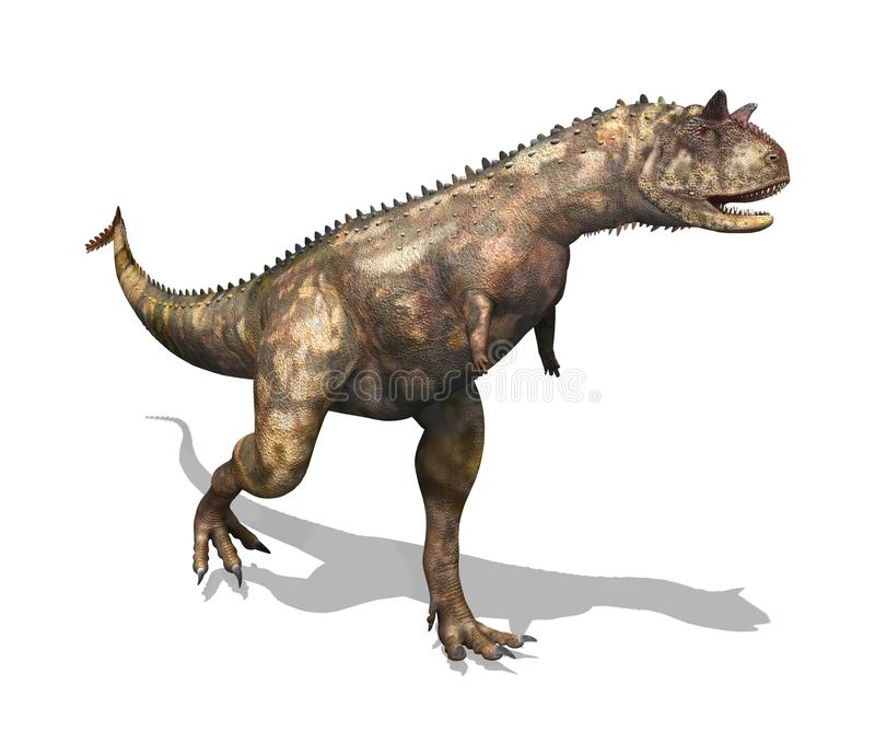 Dinosaurio de Carnotaurus stock de ilustración