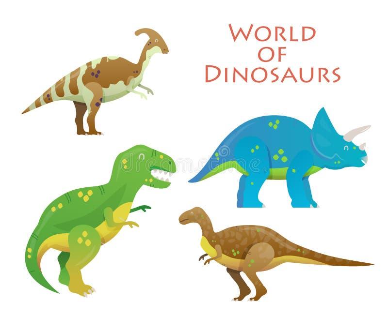 Dinosaurio de la historieta o animal del reptil, Dino ilustración del vector