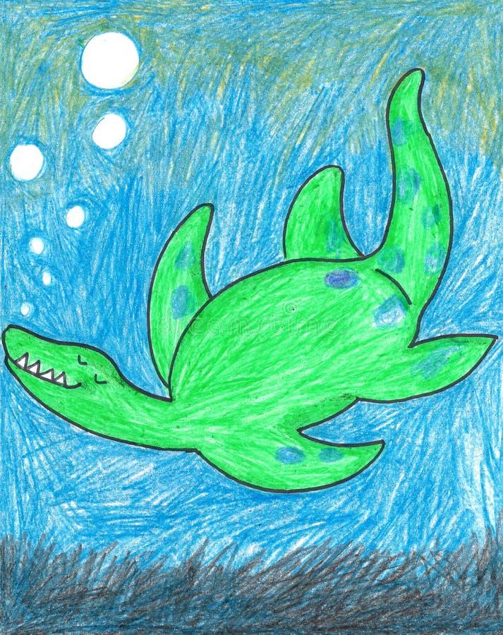 Dinosaurio de la natación ilustración del vector
