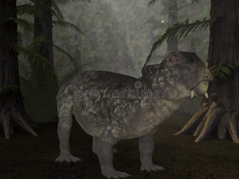 Dinosaurio de Lystrosaurus- 3D ilustración del vector