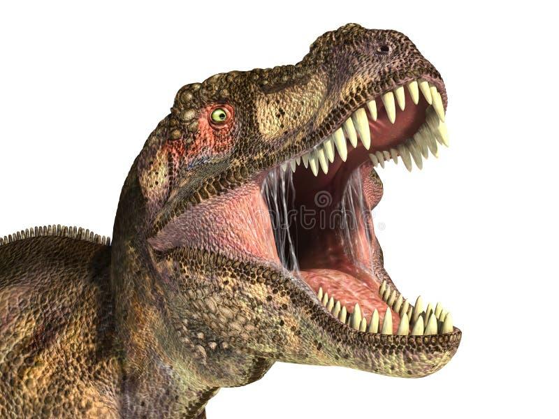 Dinosaurio de Rex del tiranosaurio, representación fotorrealista. Cabeza libre illustration