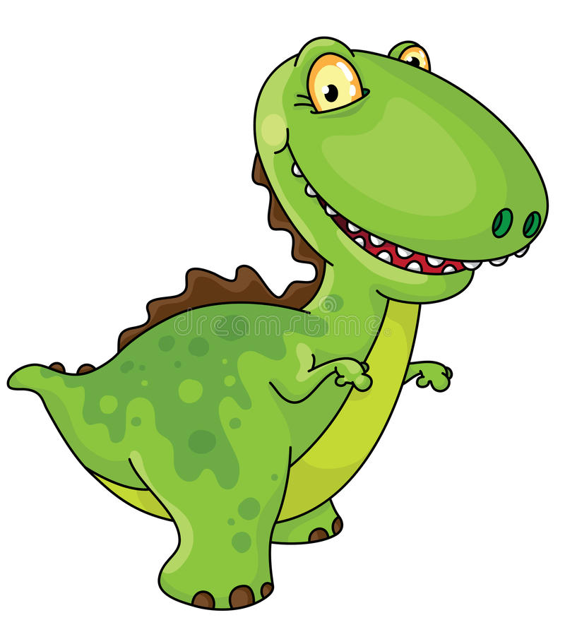 Dinosaurio de risa ilustración del vector
