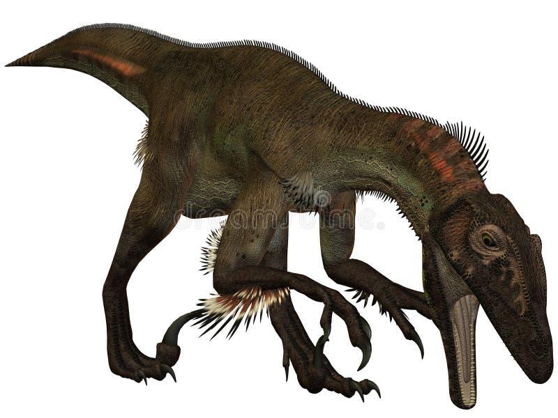 Dinosaurio de Utahraptor ostrommayorum-3D ilustración del vector