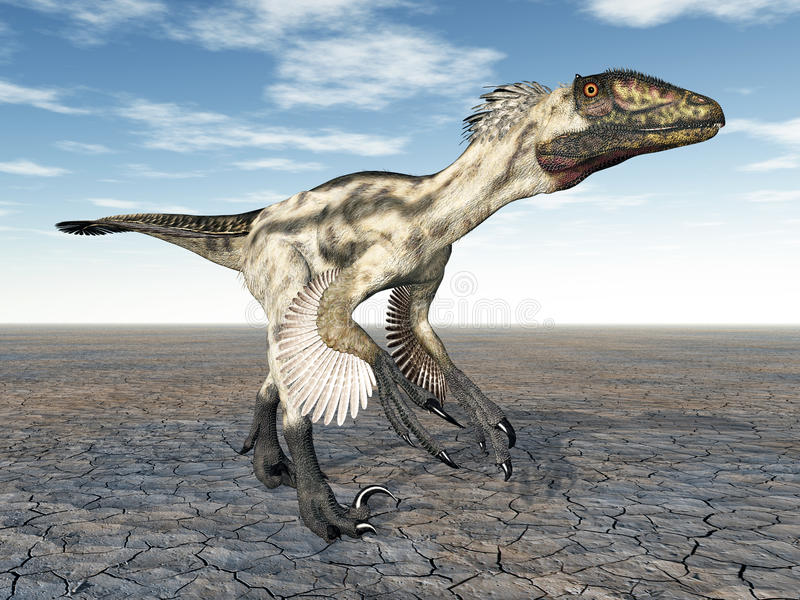 Dinosaurio Deinonychus libre illustration
