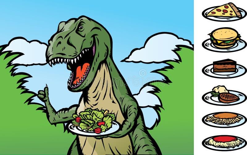 Dinosaurio del alimento ilustración del vector